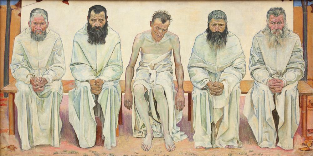 Ferdinand Hodler, Die Lebensmüden [Tired of Life], 1892