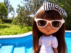 Leia (MiniL) in White (Pool Party)