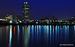 Reflections (Rafakoy) Tags: city longexposure blue light ny newyork reflection building tower water skyline night reflections river lights long exposure cityscape time dusk queens times rooseveltisland longtimes aldorafaelaltamirano rafaelaltamirano aldoraltamirano