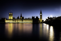 Westminster Night { Explore } (pantha29) Tags: bridge black reflection london water westminster thames night river dark evening big experimental darkness purple ben housesofparliament bigben olympus explore nightime riverthames hdr topaz ststephenstower e510 photomatix