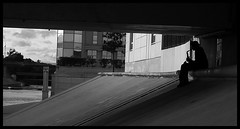 Saxophone Player. (Florian-Local.) Tags: world street leica white photo scene montpellier nb rue sax musique musicien
