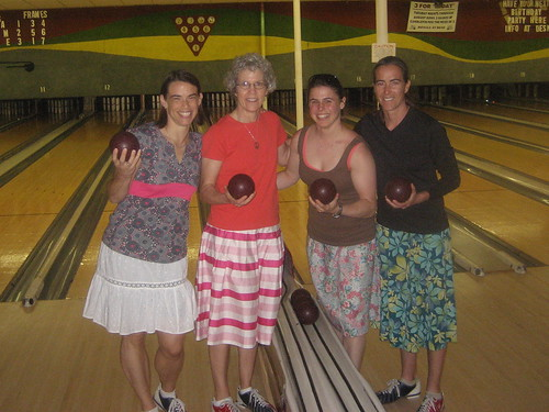 Candlepin Bowling in Skirts