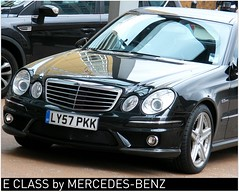 Exemplary tuned Mercedes-Benz E-Class 4-door i...