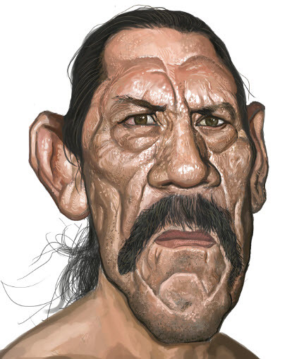 digital sketch of Danny Trejo - 6 small
