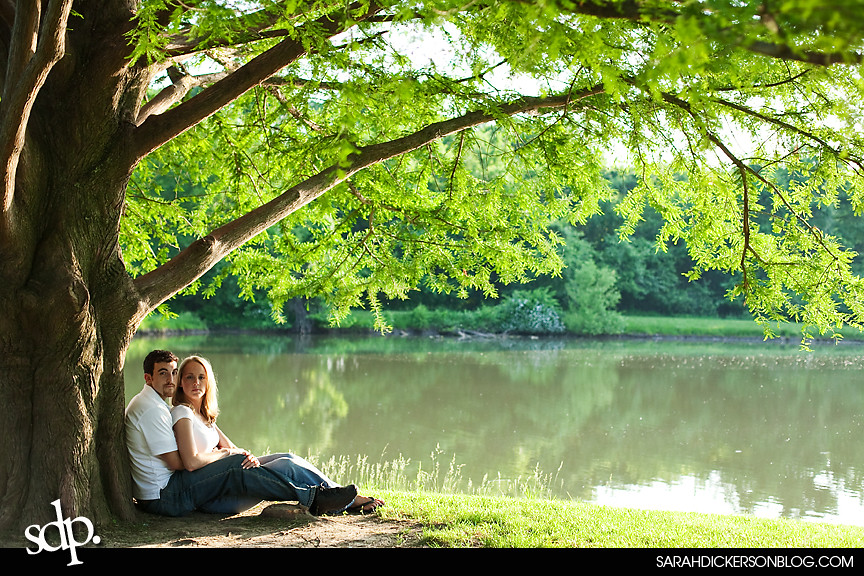 Kansas City Shawnee Mission Park engagement photography