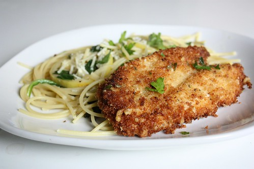 Parmesan Crusted Chicken Picatta