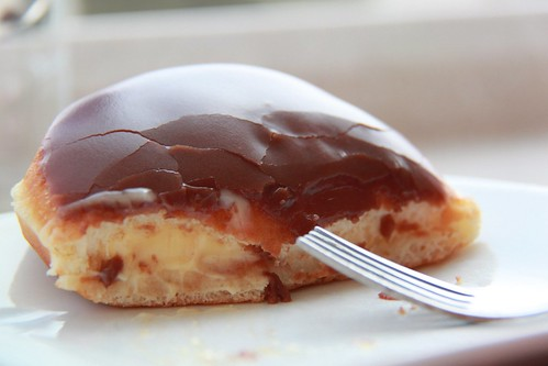 Chocolate Glazed Custard Filled Donut