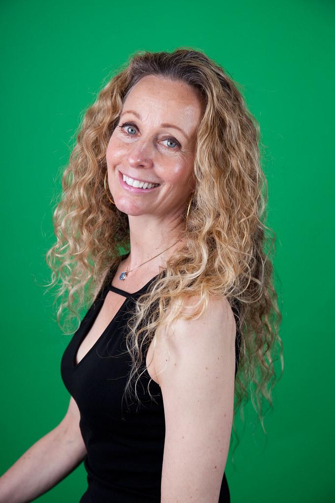 Susan on a Greenscreen: Original Photo