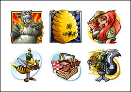 free Bonus Bears slot game symbols