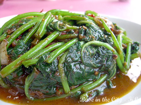 Stir-fry Sweet Potato Shoots in Sambal Belachan