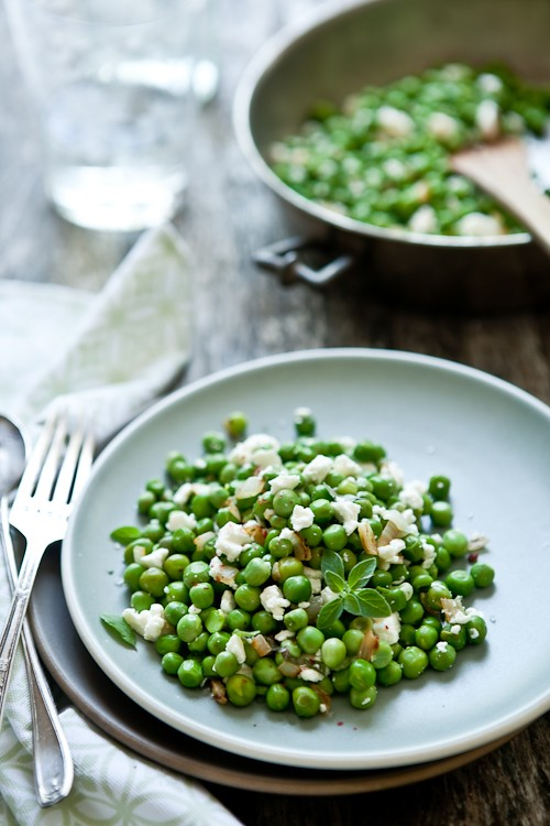 Fresh Peas & Goat Cheese Salad