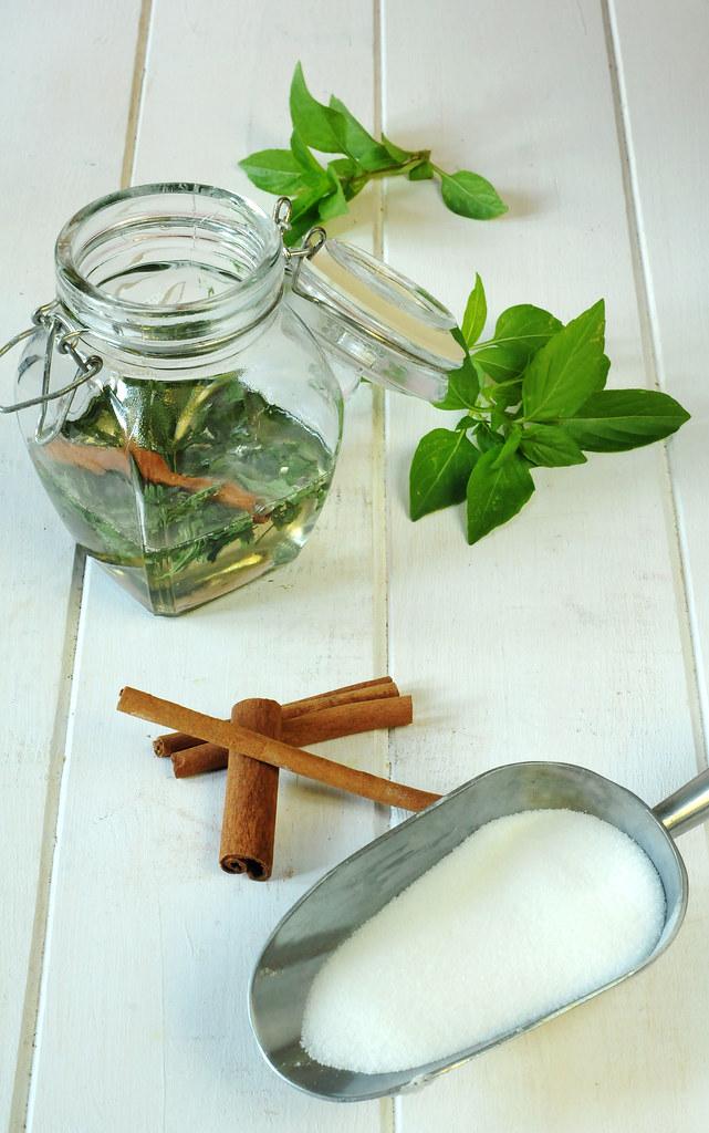 cinnamon basil syrup long