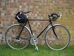 Surly Cross Check (richwoodham) Tags: black bike check cross b17 commute surly brooks crosscheck carradice