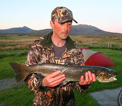 South Uist sea trout catch (Hugh Spicer / UIsdean Spicer) Tags: scotland fishing trout seatrout southuist stoneybridge