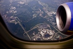 Disney World From 10,000 Feet (Ray Horwath) Tags: epcot nikon disney disneyworld wdw waltdisneyworld tamron aerialphotography magickingdom mco southwestairlines waltdisney worldshowcase futureworld swa orlandointernationalairport horwath disneyresorts tamronlens d700 disneyphotos nikond700 disneyphotochallenge disneyphotochallengewinner rayhorwath disneyworldaerialview tamron28mm300mmlens