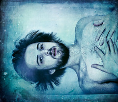 Awakening (Dylan_Murphy) Tags: blue portrait man male texture wet water self heart flood dream tub end what bathtub chill drown shiver submerge immerse