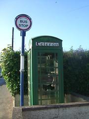 Green Phone.... 2 (tezzer57) Tags: k6 fujifinepix phoneboxes countywexford castlebridge whatwasredisgreen