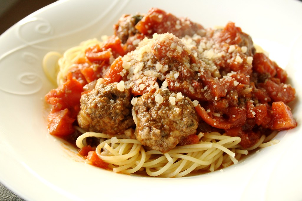 Jamie Oliver's Meatballs and Pasta