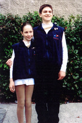 Chrissy and Will at the 2001 North American Challenge Skate in Vancouver.