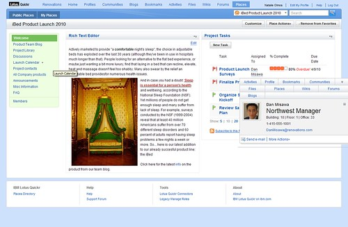 Quickr 8.5 screenshot
