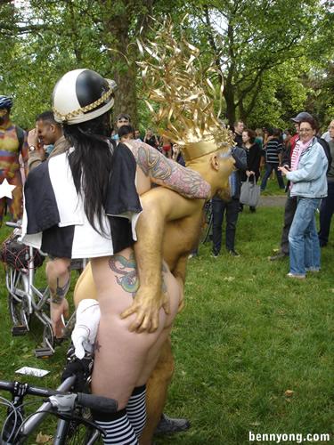 Naked Biker Chick