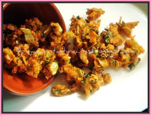 Cauliflower Leaves Pakodas