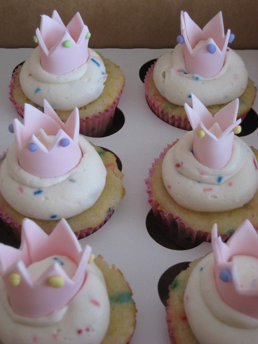 Princess themed cupcakes