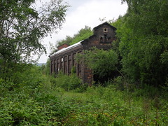 Engine shed (Moodster020) Tags: abandoned station yard centre shed engine railway disused siding derelict ue urbex dinting