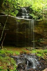 Bark Camp Creek Trail Waterfall (John P.C.) Tags: cliff water creek forest waterfall stream kentucky ky hike danielboonenationalforest barkcampcreek
