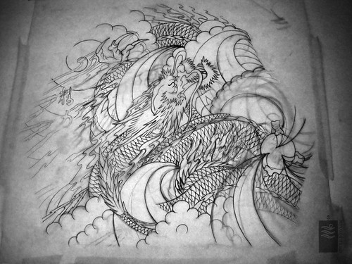 Dragon Tattoo sleeve, study, study. More info here! tattoo.yoso.eu/