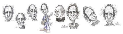 sketch studies of Harry Shearer