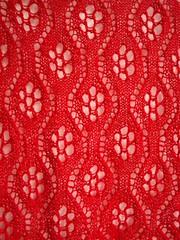 Flower shawl detail
