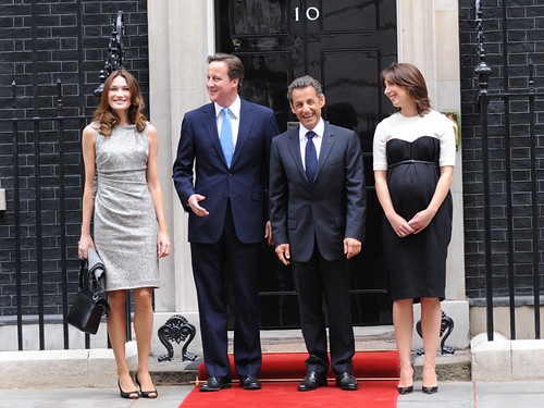 PM and President Sarkozy outside Number 10