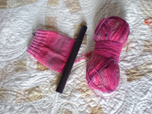 Pink socks in progress