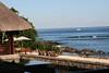 Blick von der Frühstücksterrasse im Grand Mauritian