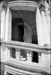 Chambord_04 (Chris Protopapas) Tags: sculpture france castle art architecture spiral nikon arch staircase chambord chateau loire renaissance nikons3 drumscanner hells3900