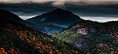 Autumn in the White Mountains (Adam Woodworth) Tags: autumn trees mountains clouds nikon fallcolors newhampshire whitemountains foliage darksky d90