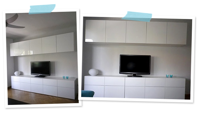 Livingroom TV/Storage Combination using IKEA BESTÅ