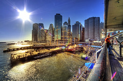 Seaport Afternoon (Tony Shi Photos) Tags: street new york nyc ny skyline mall photo downtown afternoon manhattan piers south southstreetseaport lower fulton hdr seaport peking nuevayork    nikond700   tonyshi