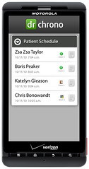 Android EHR Physician Schedule