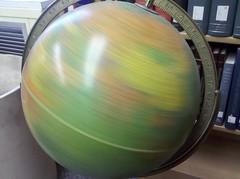 Globe, spun