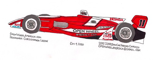 Fan design: 2012 IZOD IndyCar Series chassis design