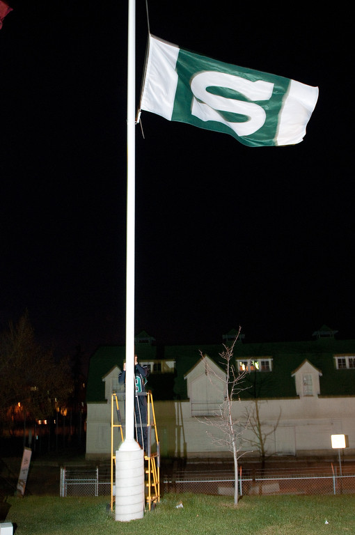 Alumni Flag: Cory Thoms, Oct 15, 2010