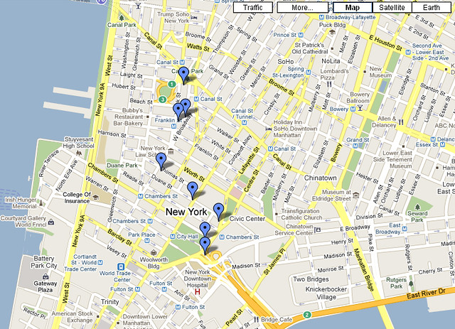 Mapa Walking Tour 1 - New York