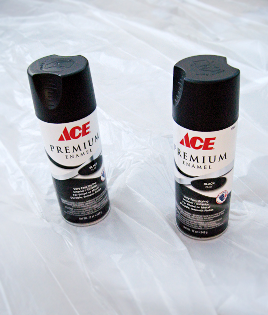 black matte enamel spray paint