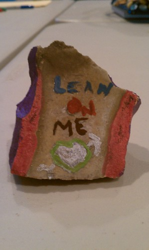 Student work: Lean on me