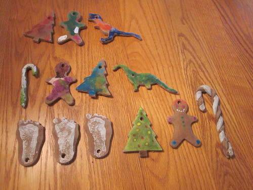 Child-painted ornaments