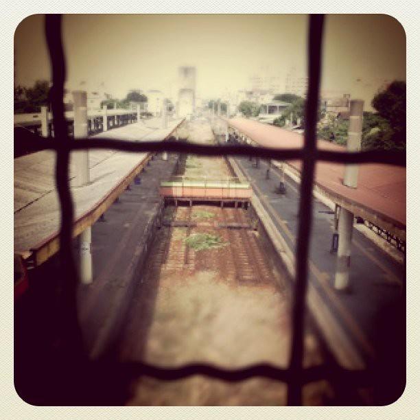 Empty railway platform…
