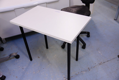 Desk metal frame ex demo  with various finishes 800x500 E60