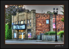 Former Movie House  Lowell MI (the Gallopping Geezer '4.8' million + views....) Tags: building structure business store storefront mainstreet smalltown lowell mi michigan backroad backroads old canon 5d3 24105 geezer 2016 sign signs signage hdr processing photomatrix